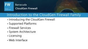 NGF01010 - Introducing the Barracuda NextGen Firewall F