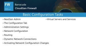 NGF01020 - Basic Configuration Tasks