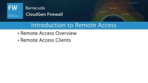 NGF01304 - Introduction to Remote Access