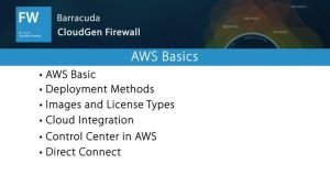 NGF05452 NextGen Firewall in AWS Basics