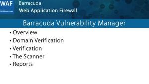 WAF026 - Barracuda Vulnerability Manager