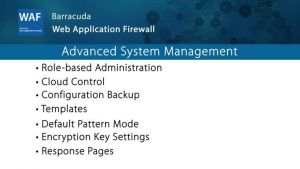 WAF029- Advanced System Management
