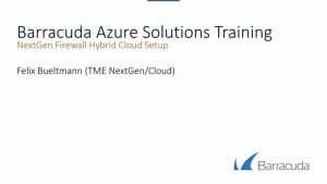 NextGen Firewall F - Azure Hybrid Cloud HA Setup with Traffic Intelligence