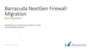 NextGen Firewall Hardware Migration Wizard
