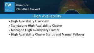 NGF01220 - High Availability