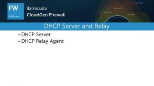 NGF02050 - DHCP Server and Relay