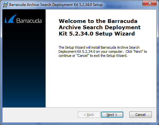 Barracuda Archive Search - Windows Deployment | Barracuda Campus