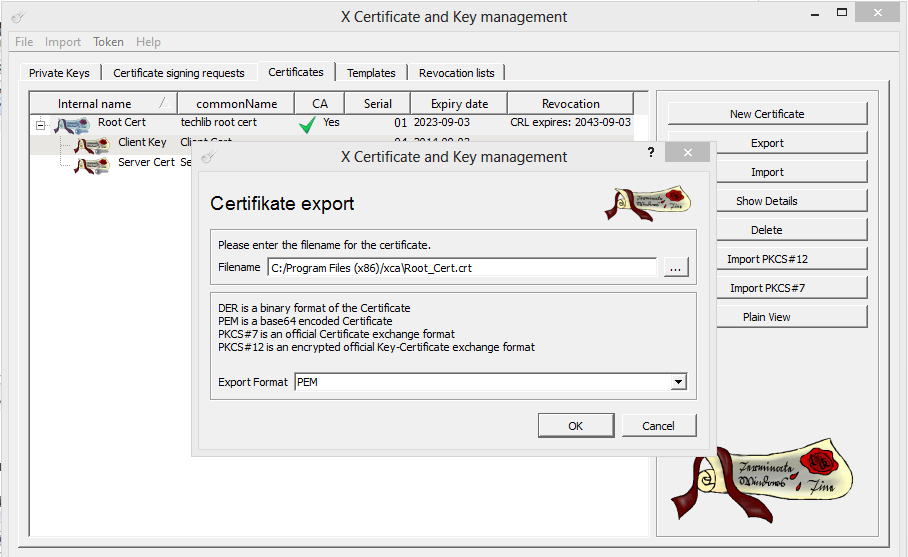 xca certificate manager