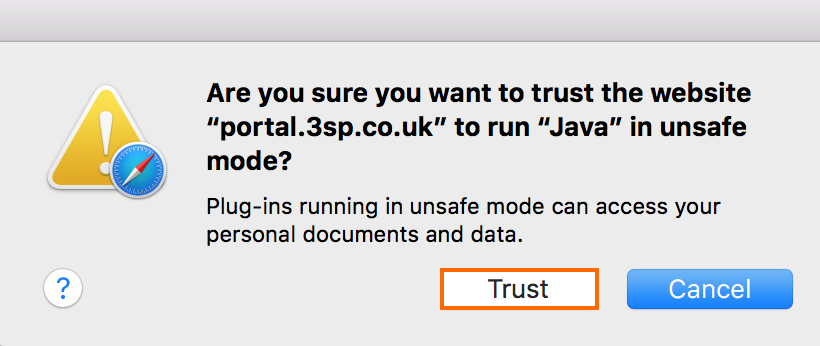 How to Run Java in Unsafe Mode for macOS | Barracuda Campus