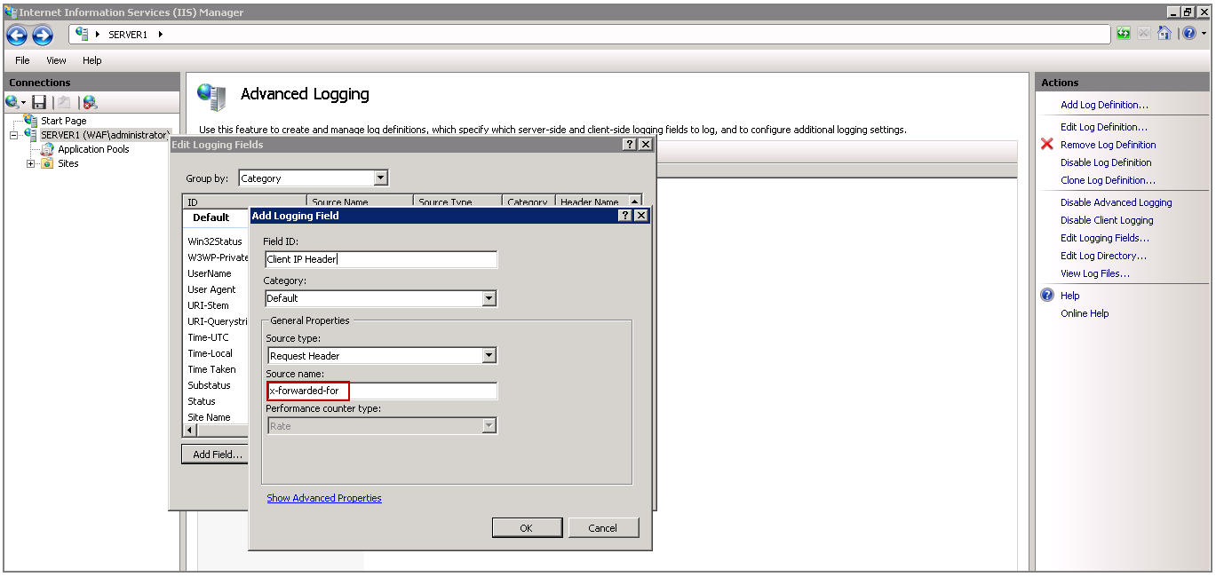 how to find iis logs