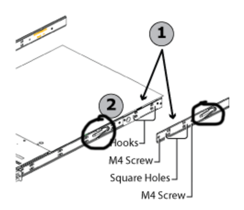 1u 4 Bay Chassis Rack Mounting Instructions