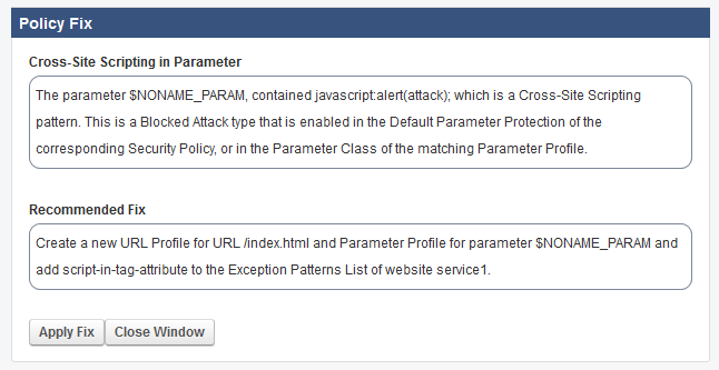 Policy_Fix_XSS_in_Param.png