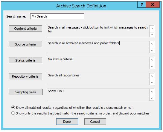 Archive Searches Node | Barracuda Campus