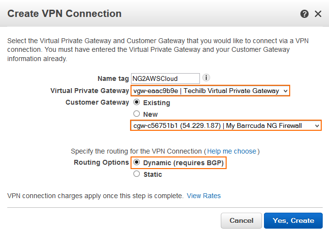 How to Configure an IKEv1 IPsec VPN to an AWS VPN Gateway with BGP