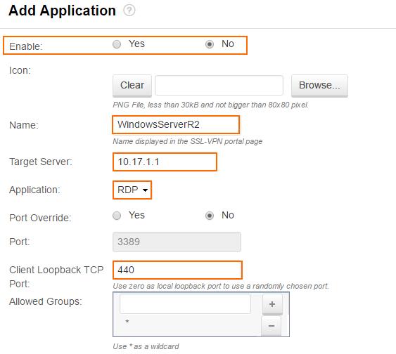 How to Configure SSL VPN Applications for RDP | Barracuda Campus