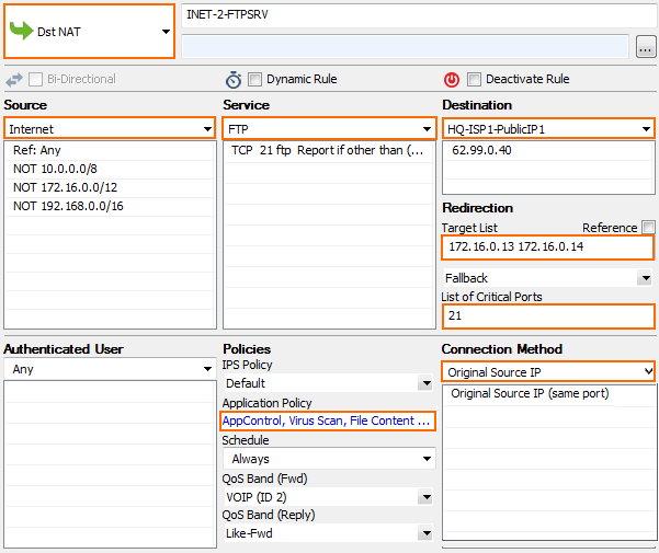 How to Configure Virus Scanning in the Firewall for FTP