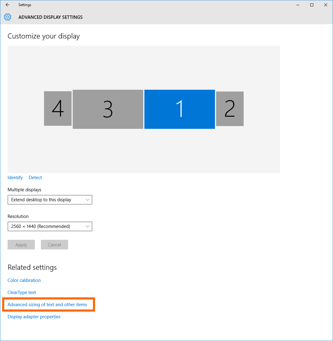 How to Adjust Windows 10 for NextGen Admin on High Resolution