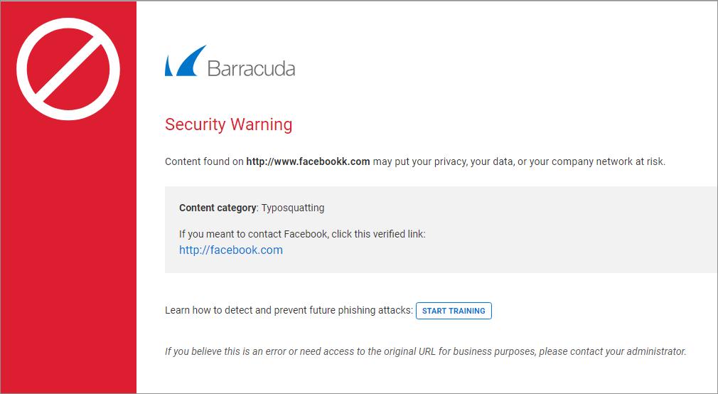 Security Warnings | Barracuda Campus