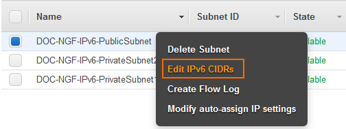 How to Configure IPv6 for F-Series Firewalls in AWS | Barracuda Campus