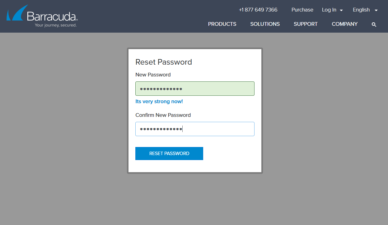 Partner Portal - reset password