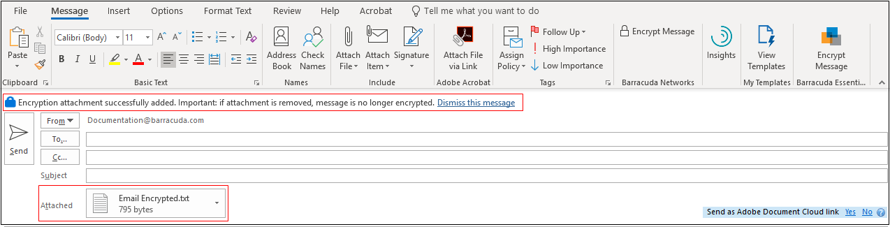 Barracuda Essentials for Email Security Outlook Add-In User