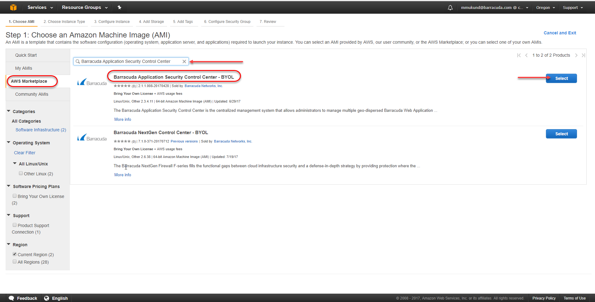 Step 1_Choose an Amazon Machine Image (AMI)_AWS Marketplace selected_ASCC Image encircled.png