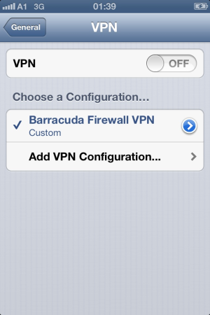 How to Configure the Apple iOS VPN Client for IPsec Shared