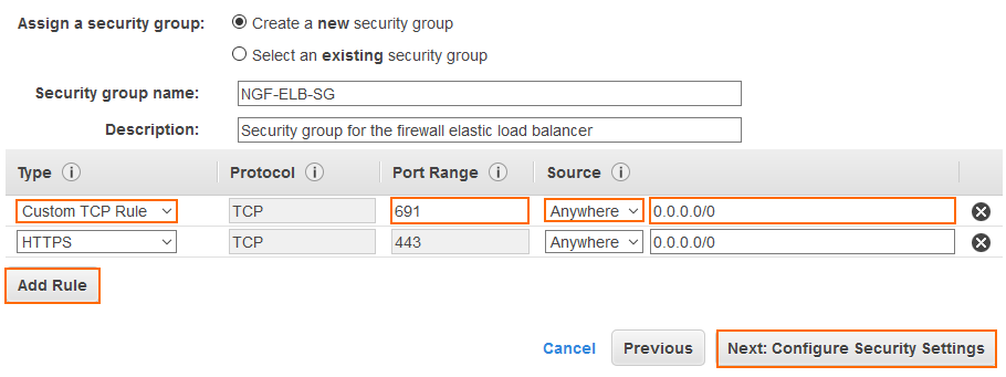 How to Configure an AWS Elastic Load Balancer for CloudGen Firewalls