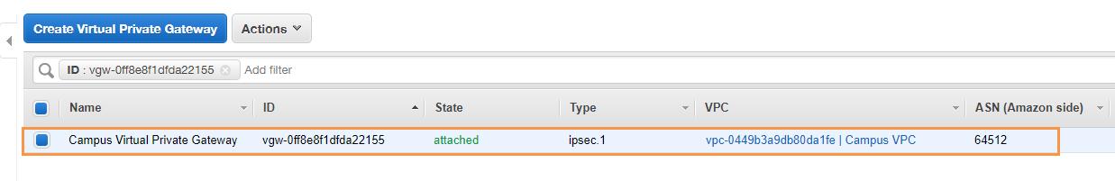 How to Configure an IKEv1 IPsec VPN to an AWS VPN Gateway