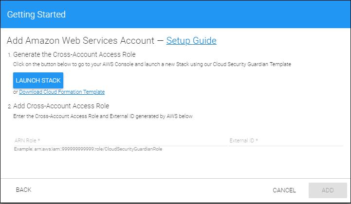 Step 2: Adding a Cloud Service Account - AWS   Barracuda Campus