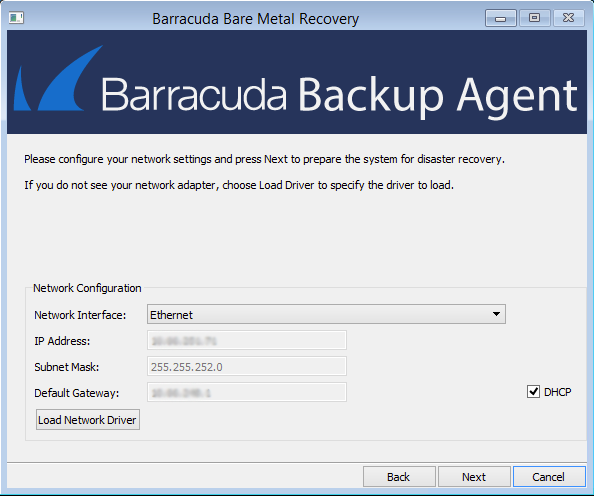 Bare Metal Recovery | Barracuda Campus