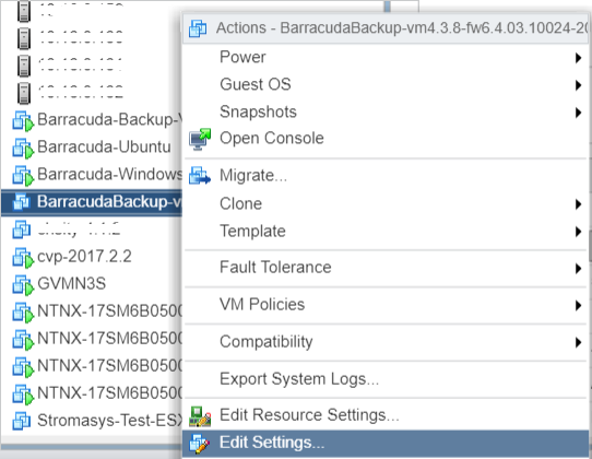 Deploy Barracuda Backup Vx on Nutanix Systems | Barracuda Campus